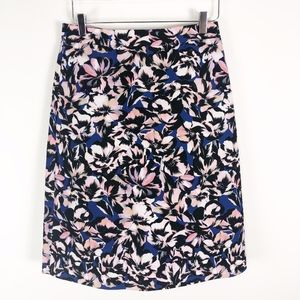 J. Crew A-Line Pencil Skirt Floral Print